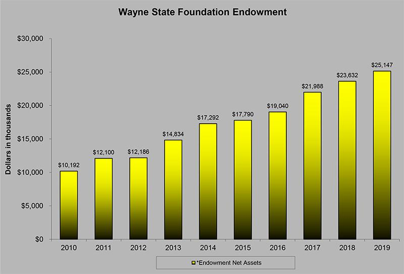 10 Year endowment graph 2019