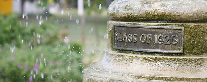 Alumni Class of 1920 Fountain