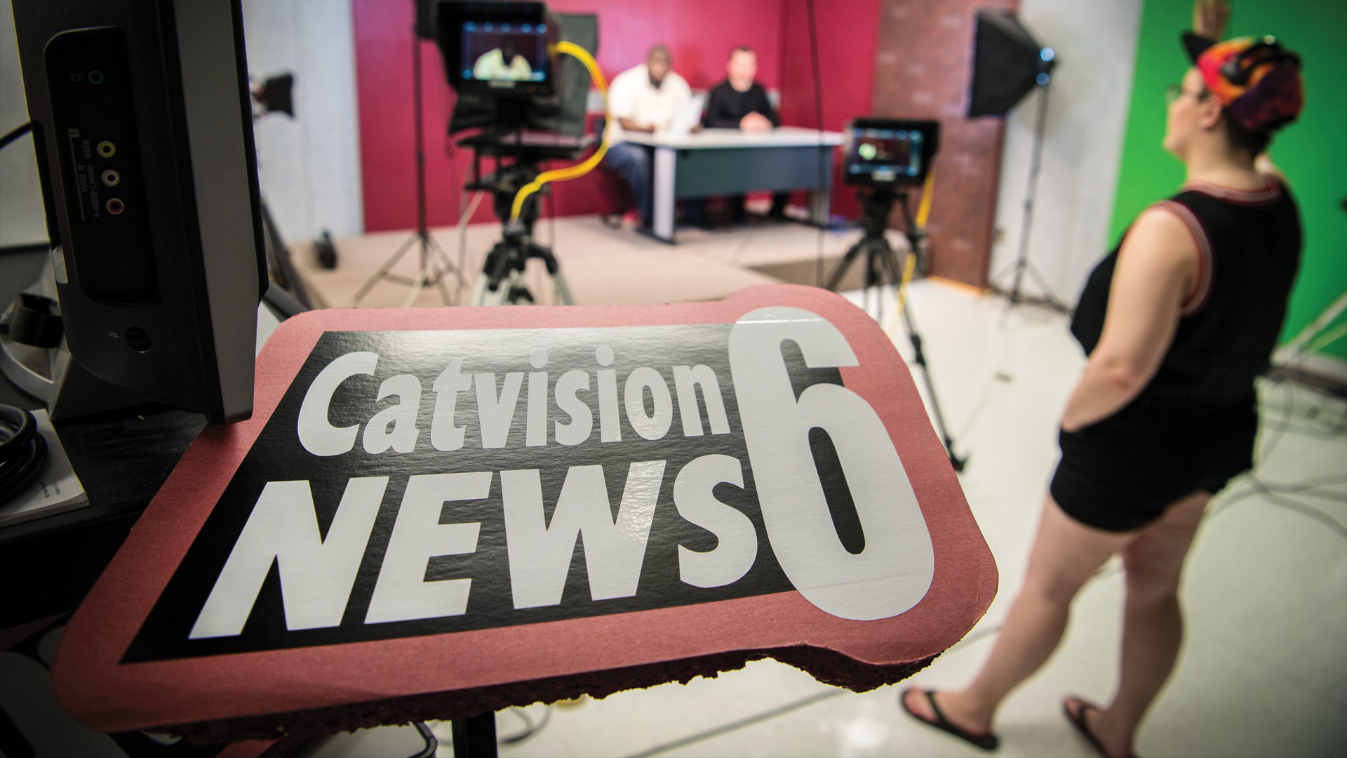 WSC stduents film Catvision 6 news
