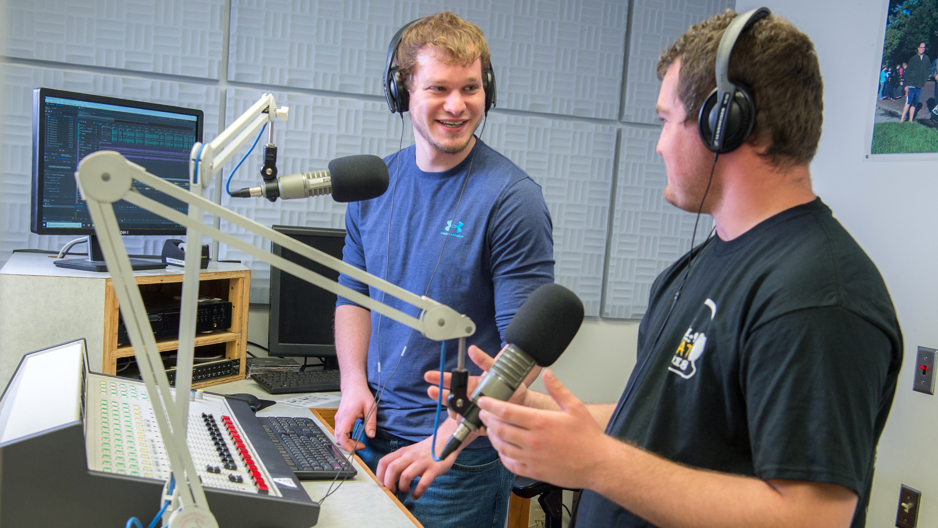 WSC media students in radio production