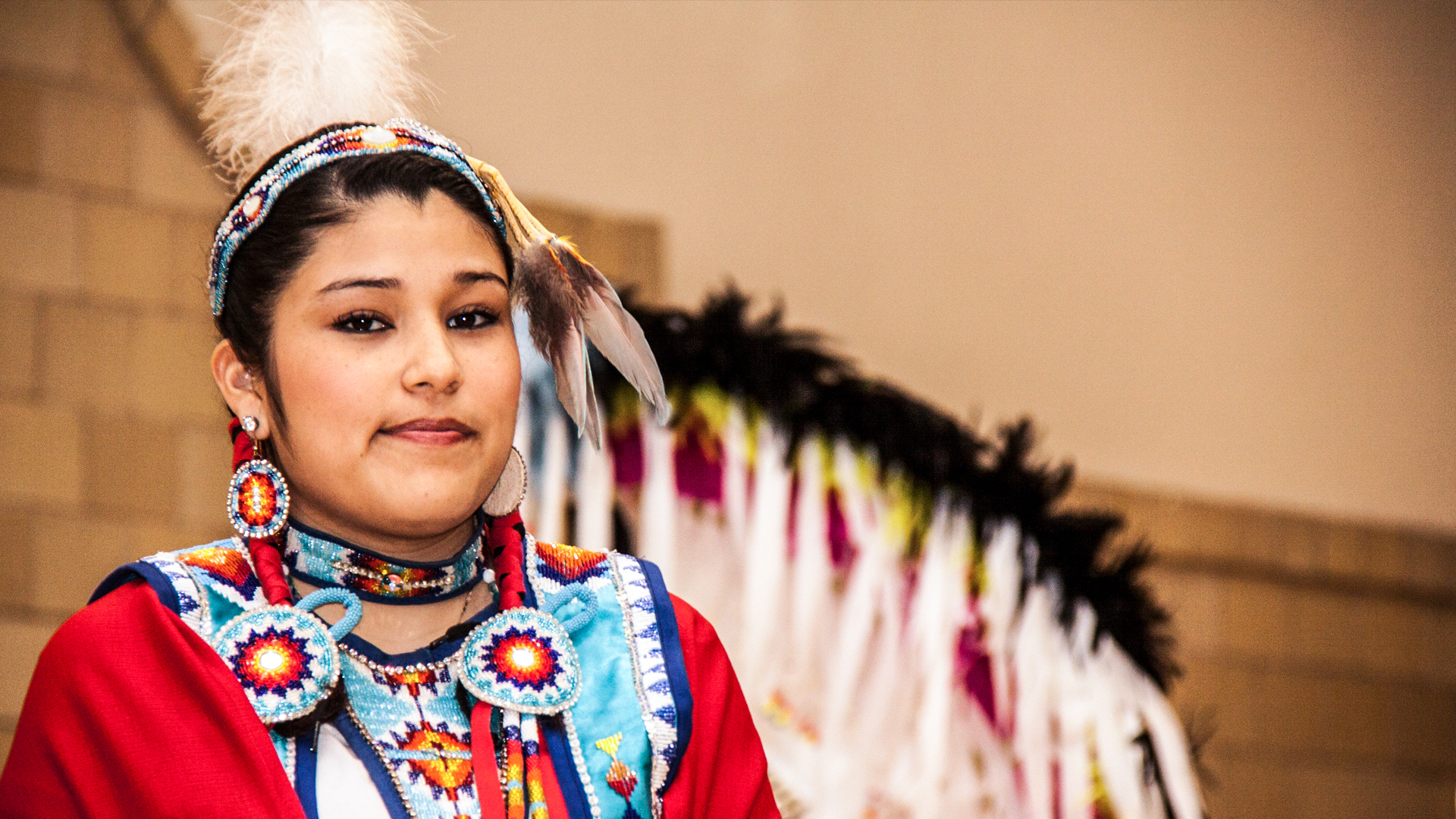 A Native American student at WSC