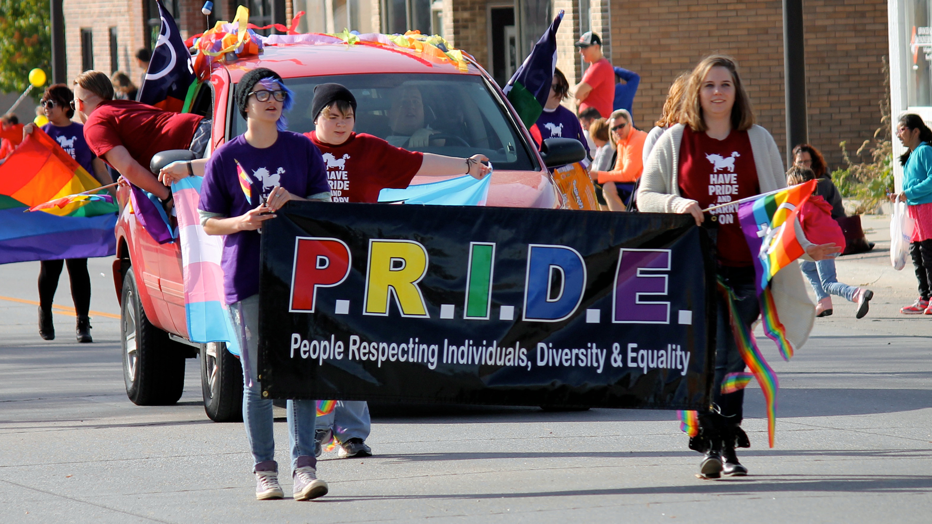PRIDE group marches at Homecoming
