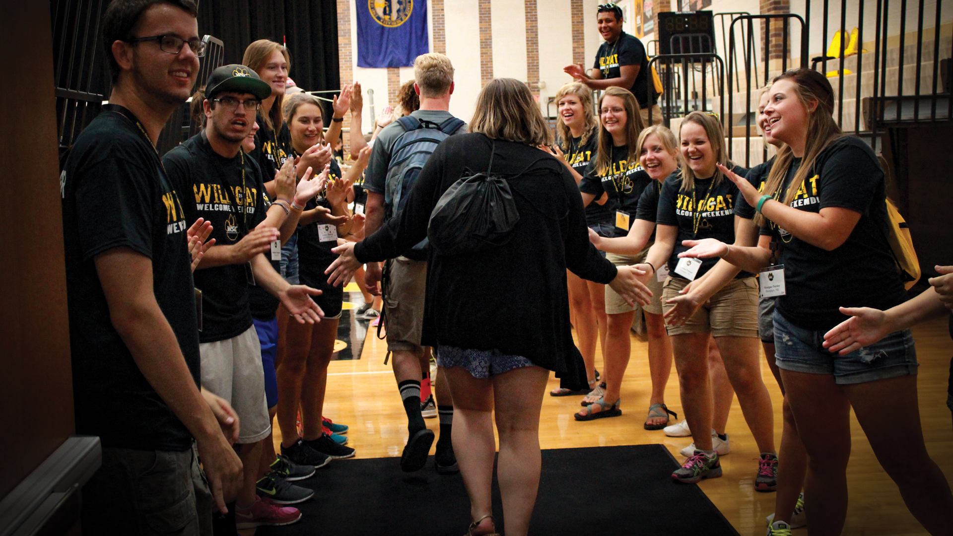 WSC Ambassadors welcome students during New Student Orientation