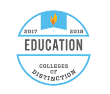 College of Distinction Award for Education Degrees, 2017-18