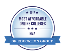 Most Affordable Online Colleges for MBA, 2017 - SR Education Group. Most Affordable Master's in Business Administration (Online MBA Degree) Award.
