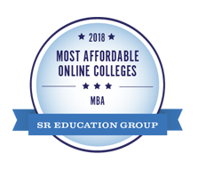 Most Affordable Online Colleges for MBA, 2018 - SR Education Group. Most Affordable Master's in Business Administration (Online MBA Degree) Award.