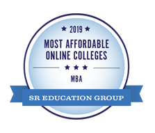 Most Affordable Online Colleges for MBA, 2019 - SR Education Group. Most Affordable Master's in Business Administration (Online MBA Degree) Award.