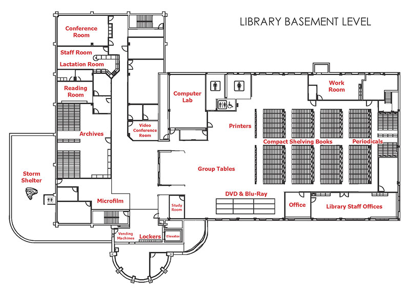 Library - basement level