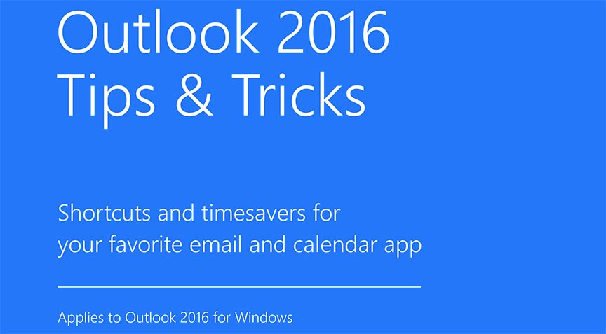 Outlook 2016 windows tips tricks title