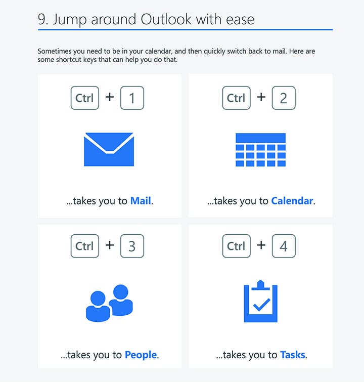 Outlook 2016 windows tips tricks outlook shortcuts