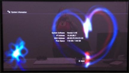 Playstation 3 Mac Address Screen