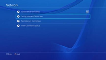 Playstation 4 set up internet connection