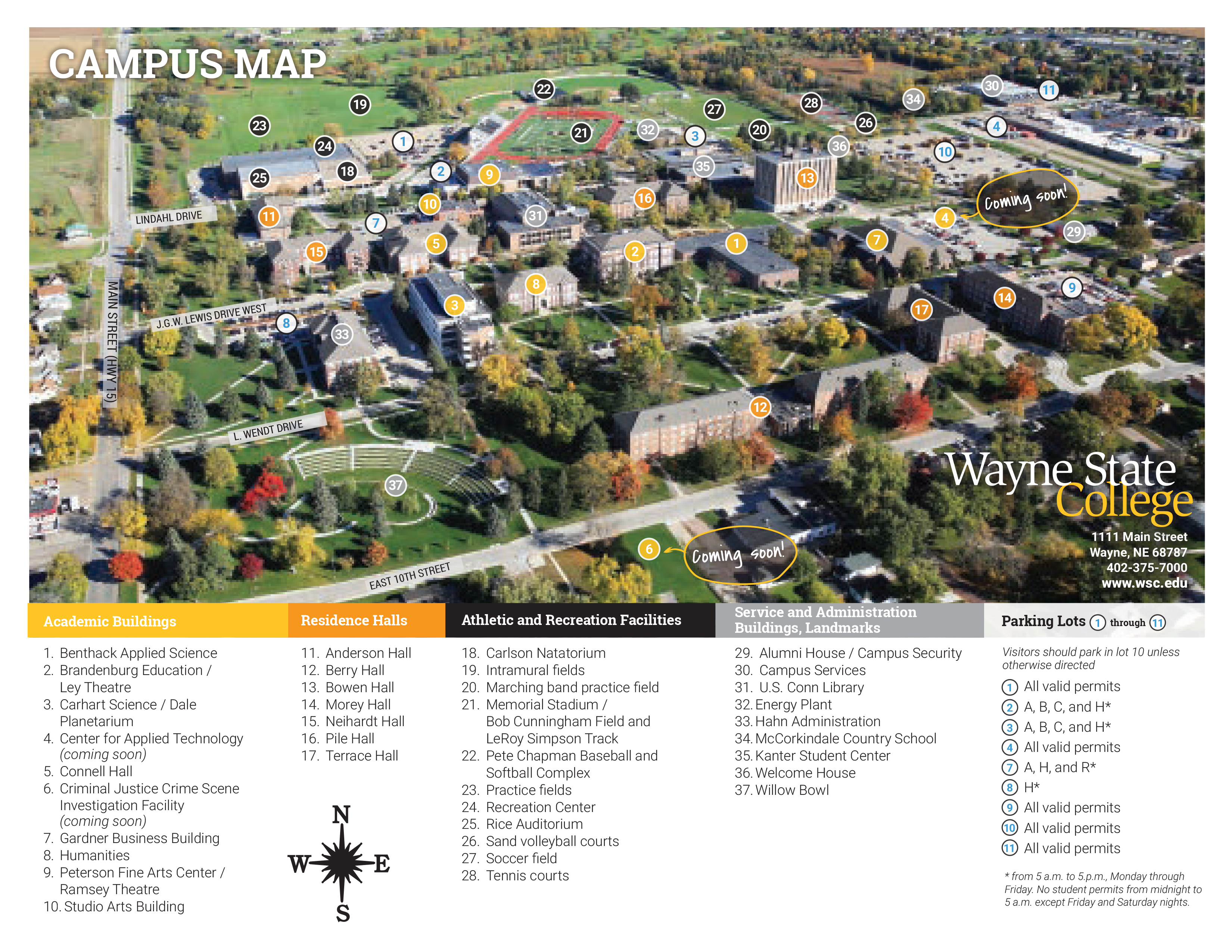 WSC Campus Map