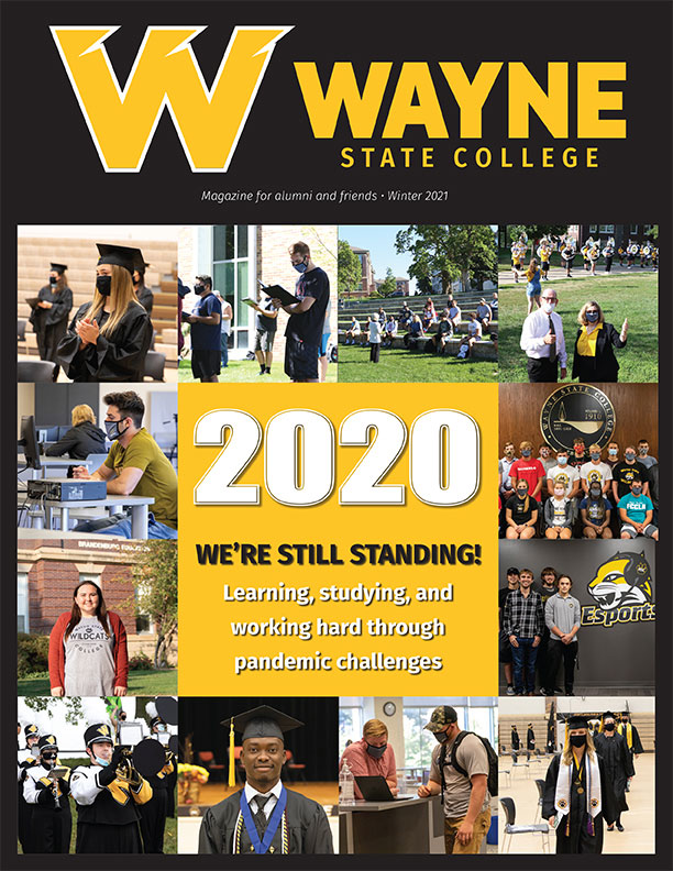 Cover of the Winter 2021 Alumni Magazine