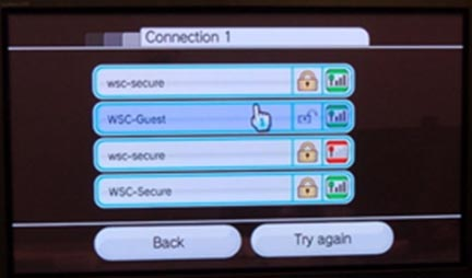 Wii connection settings no connection 5