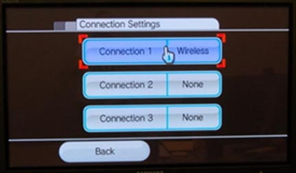 Wii connection settings wireless connection