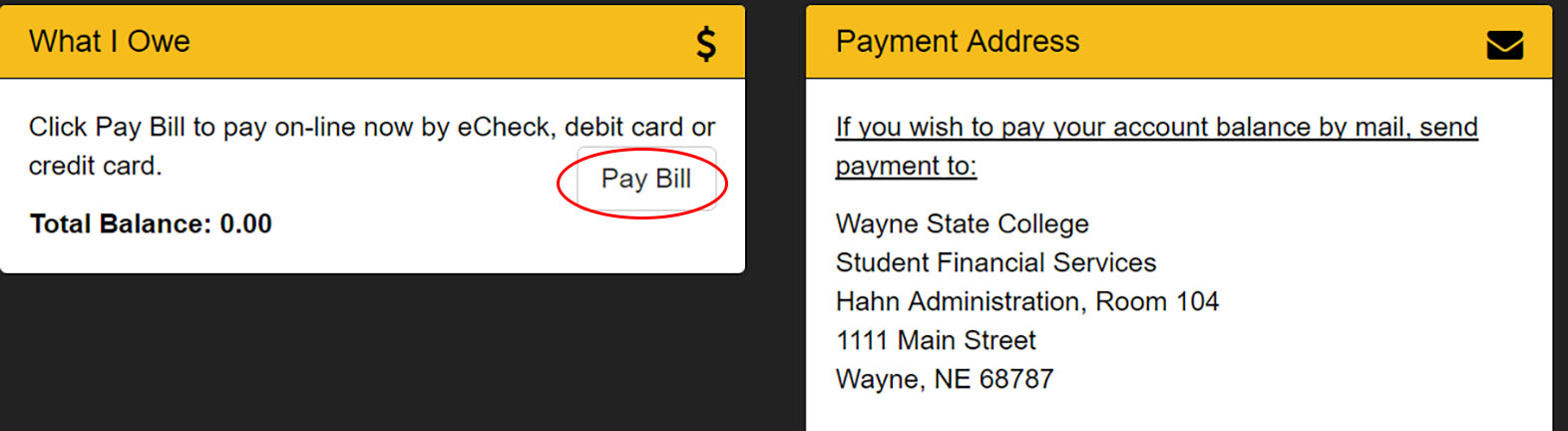 Wildcatsonline pay bill