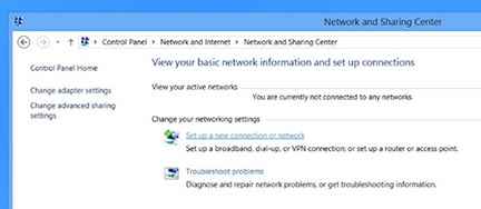 Windows8 new connection