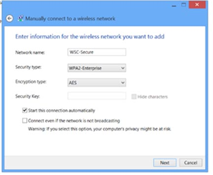 Windows8 manually connect 2
