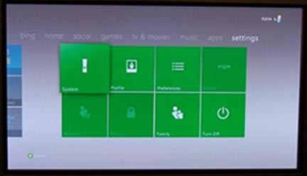 Xboxone settings