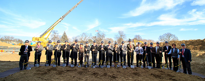 Ground breaking ceremony for Center for Applied Technology