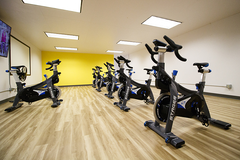 Spin bikes at Wayne State College