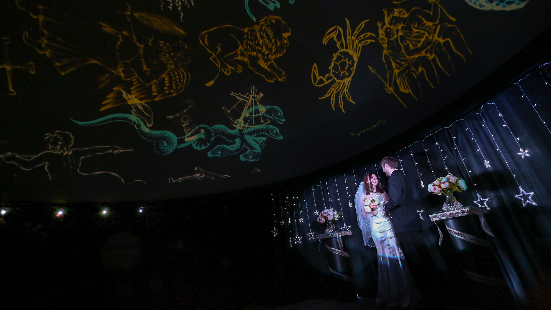 Weddings in the Planetarium