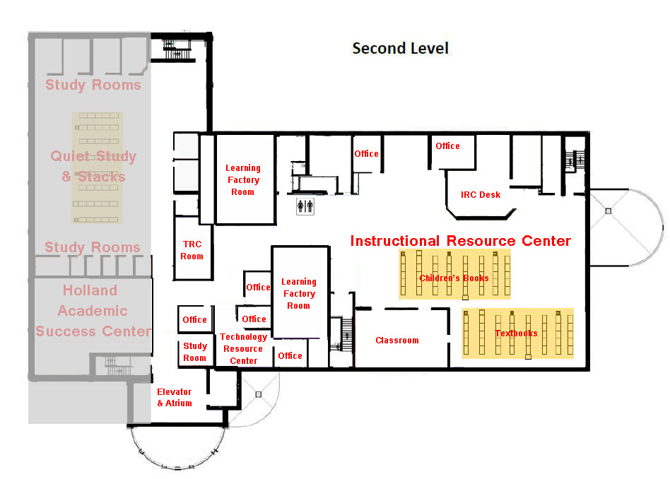 Library second floor map