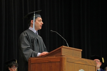 Donald Short III delivered the commencement address at the graduate ceremony.