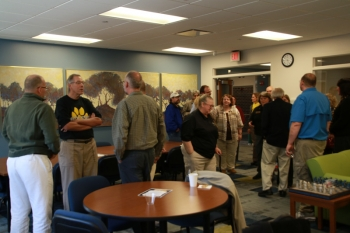 Alumni gathered for a Carhart and RHOP Affinity Reunion in the Carhart Science Building.