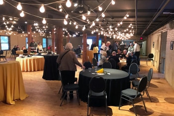 WSC alumni and friends gathered at The Old Mattress Factory in downtown Omaha before the WSC vs. Creighton men's basketball exhibition game on Nov. 4, 2016.
