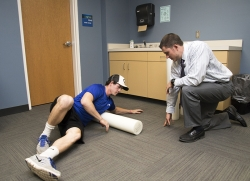Foam rolling for soft tissue mobilization
