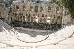 Students visit the Theater of Dionysus in Athens