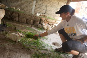 Wayne State student feeds the wildlife in Ecuador