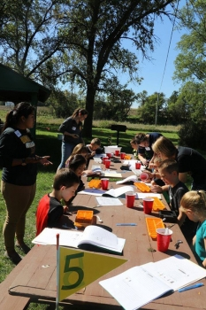 A science education day is annually hosted at Ike's Lake by Sara Walsh's EDU 431 students. Students develop science curriculum for elementary and middle school levels.
