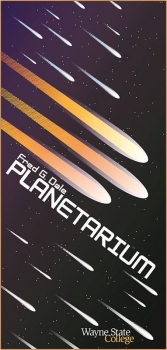 Graphic design students created promotional signs for the Fred G. Dale Planetarium